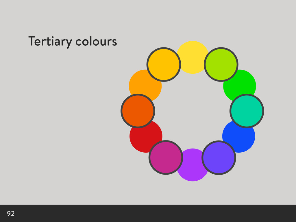 Tertiary colours 92