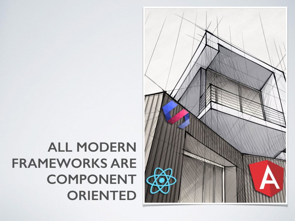 ALL MODERN FRAMEWORKS ARE COMPONENT ORIENTED