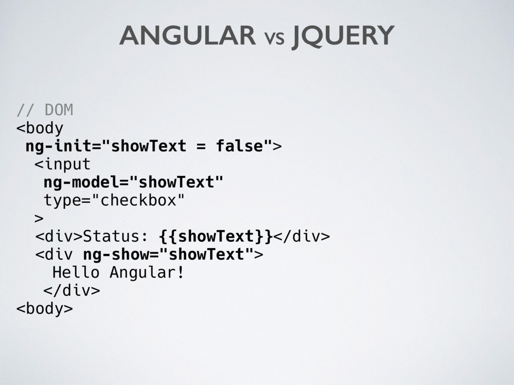 "// DOM <body ng-init=""showText = false""> <input..."