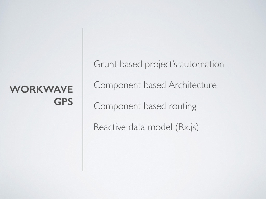 WORKWAVE GPS Grunt based project's automation C...