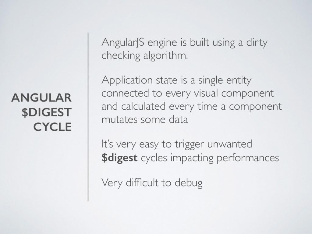 ANGULAR $DIGEST CYCLE AngularJS engine is built...