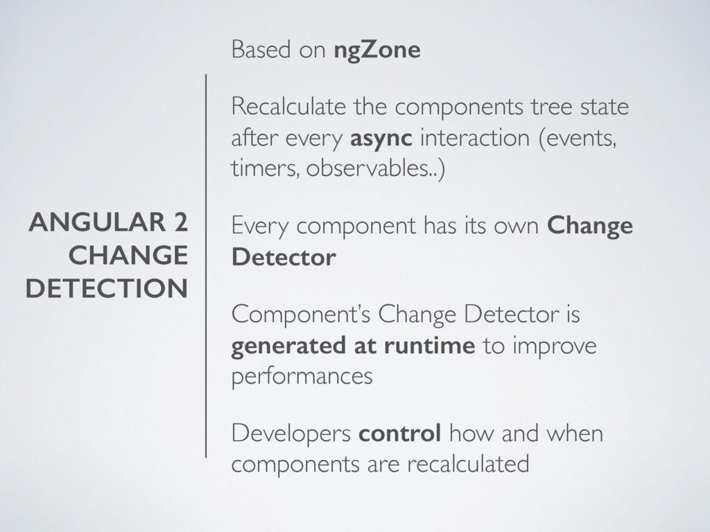 ANGULAR 2 CHANGE DETECTION Based on ngZone Reca...