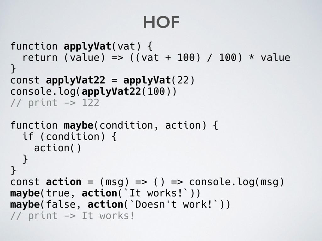 function applyVat(vat) { return (value) => ((va...