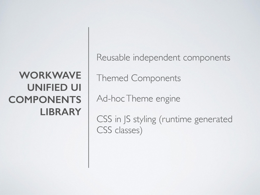WORKWAVE UNIFIED UI COMPONENTS LIBRARY Reusable...