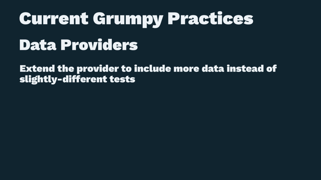 Current Grumpy Practices Data Providers Extend ...