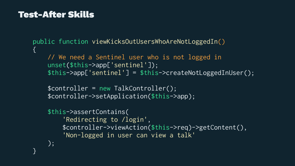 Test-A!er Skills public function viewKicksOutUs...
