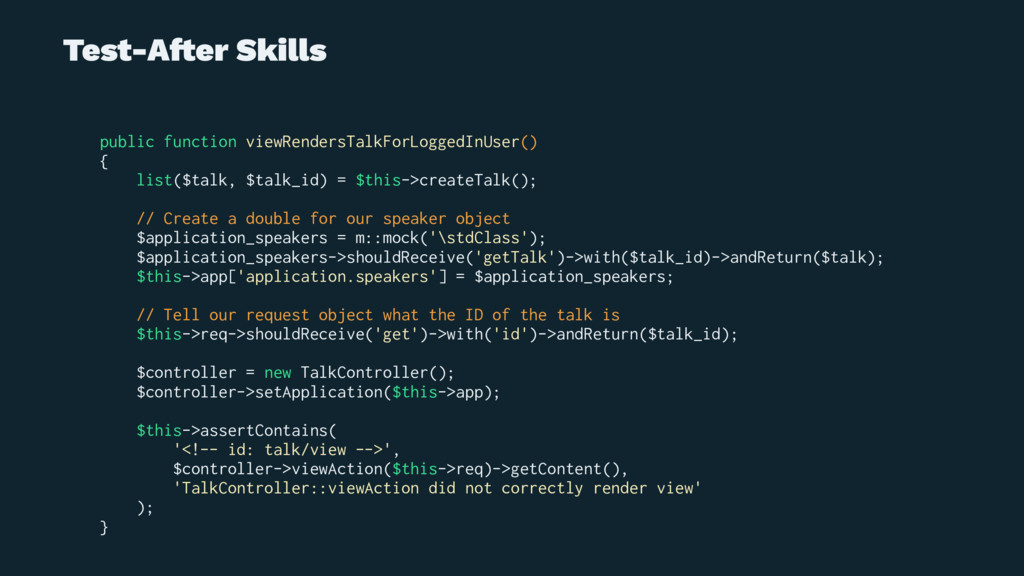 Test-A!er Skills public function viewRendersTal...