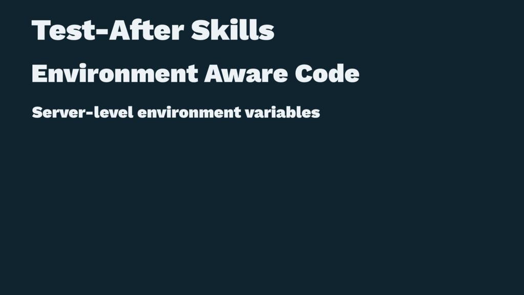 Test-A!er Skills Environment Aware Code Server-...