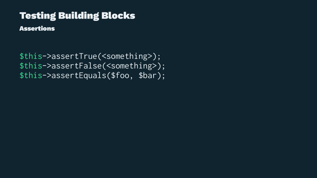 Testing Building Blocks Assertions $this->asser...