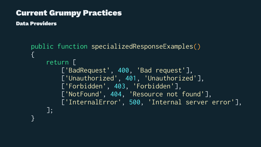 Current Grumpy Practices Data Providers public ...