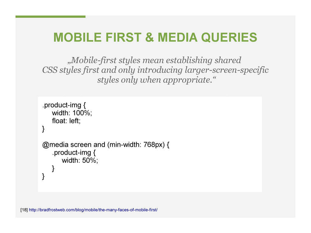 "MOBILE FIRST & MEDIA QUERIES ""Mobile-first styl..."