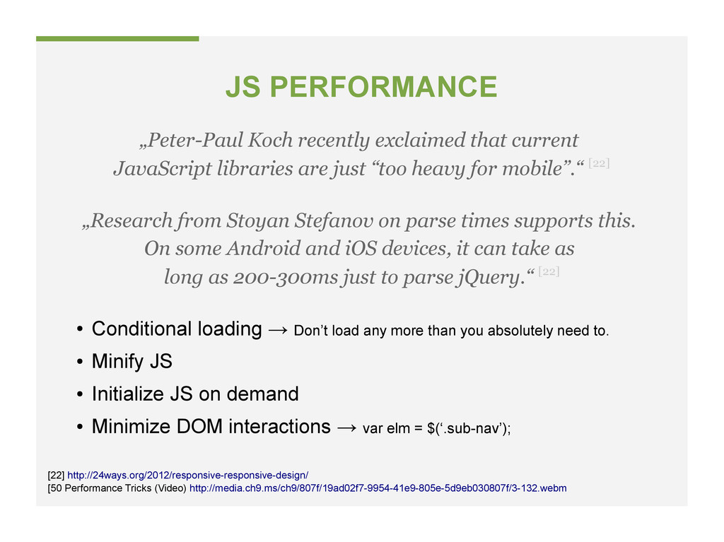 JS PERFORMANCE [50 Performance Tricks (Video) h...