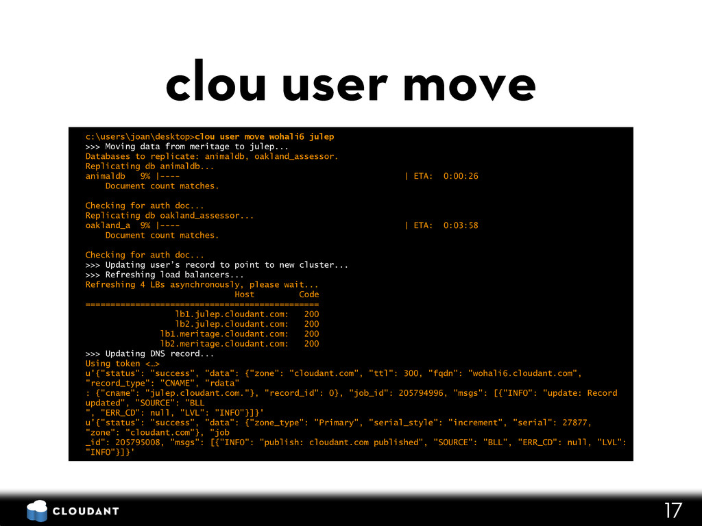 c:\users\joan\desktop>clou user move wohali6 ju...