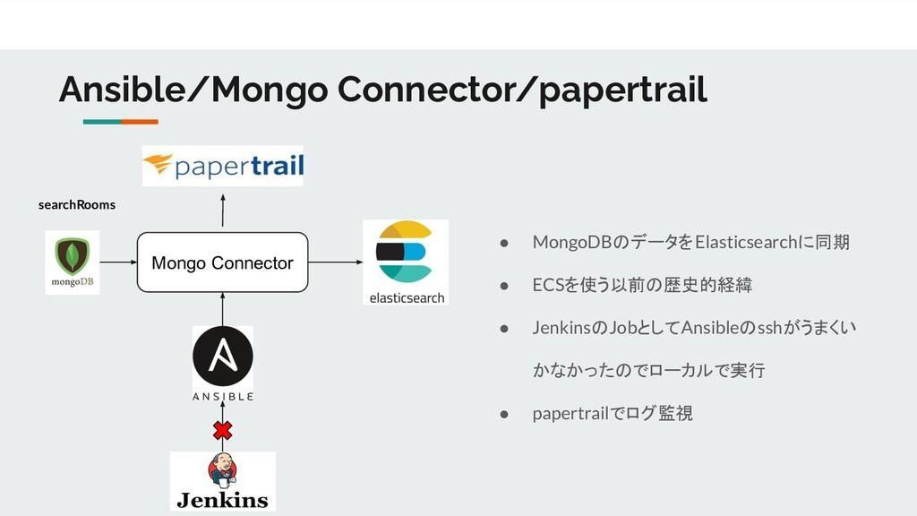 Ansible/Mongo Connector/papertrail Mongo Connec...