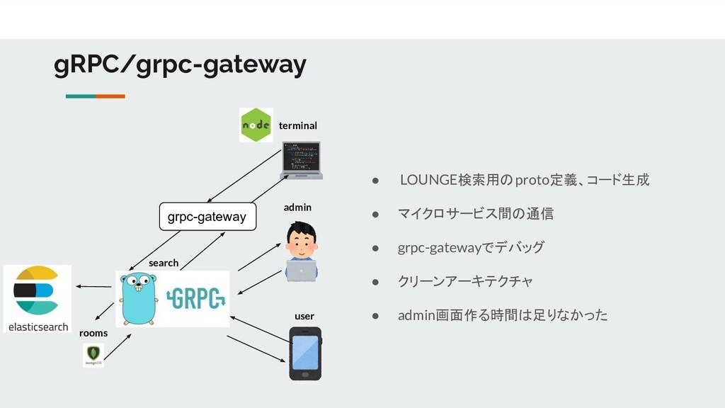 gRPC/grpc-gateway admin user search ● LOUNGE検索用...