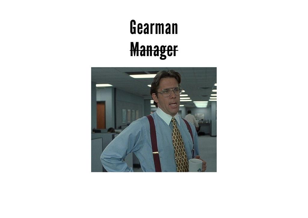 Gearman Manager