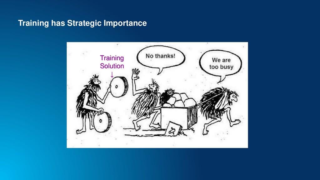 Training has Strategic Importance Training Solu...