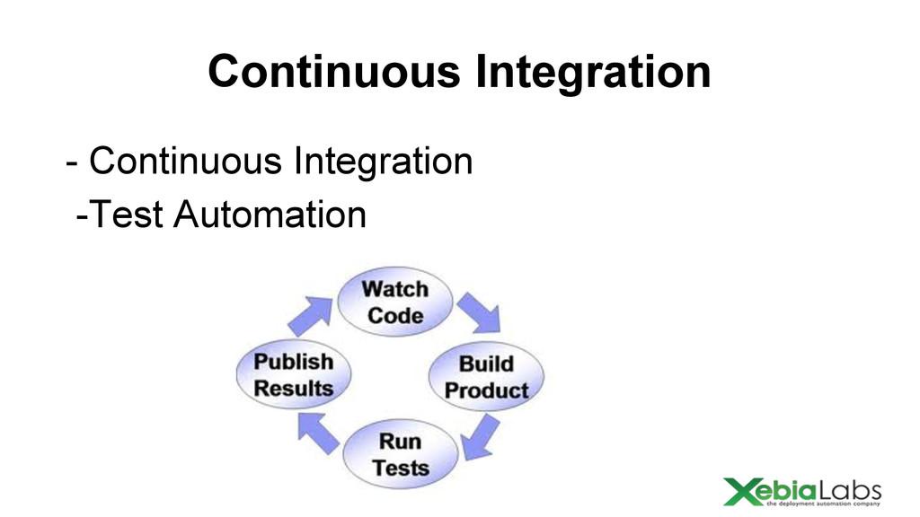 Continuous Integration - Continuous Integration...