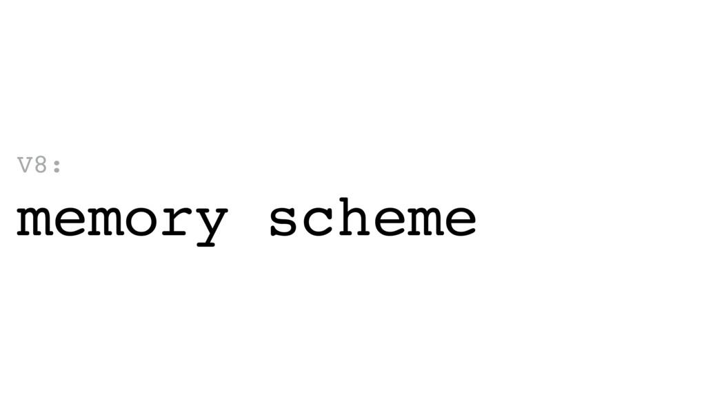 V8: memory scheme