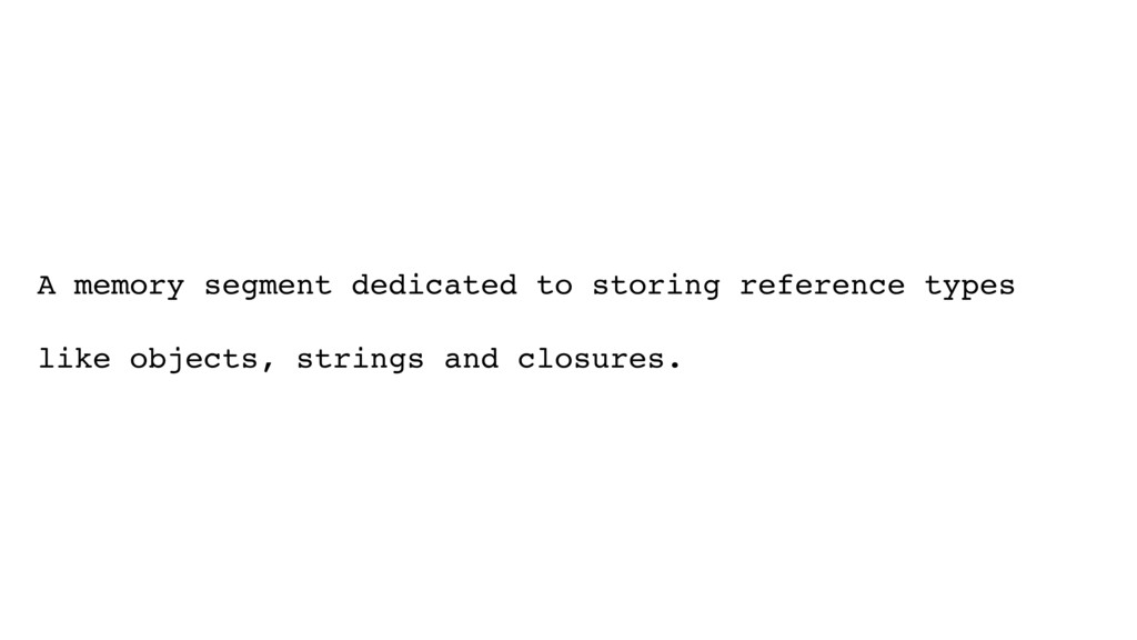 A memory segment dedicated to storing reference...