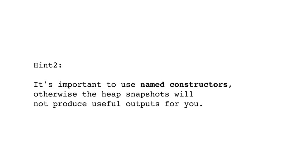 Hint2: It's important to use named constructors...