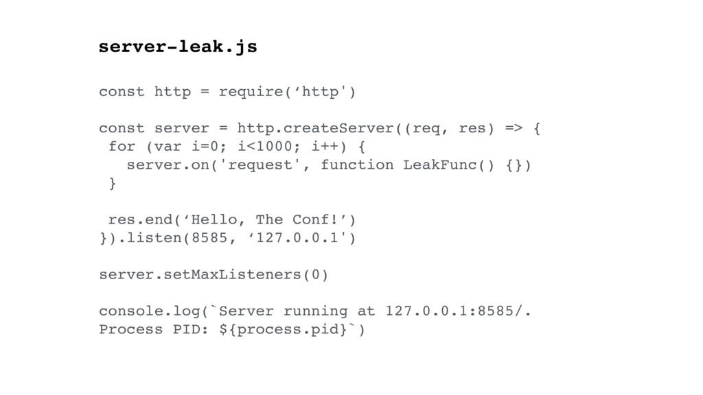 const http = require('http') const server = htt...