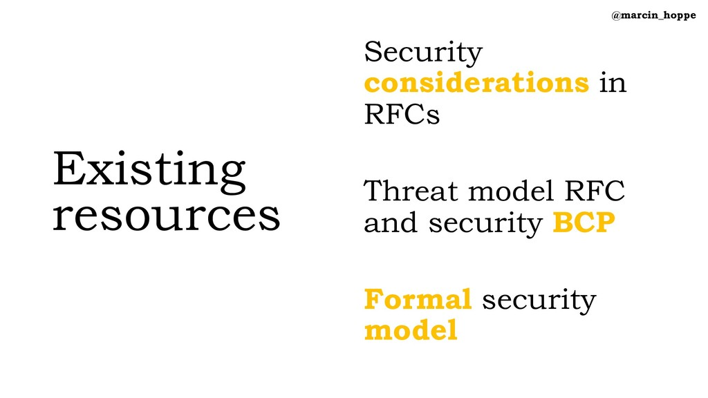 Existing resources Security considerations in R...
