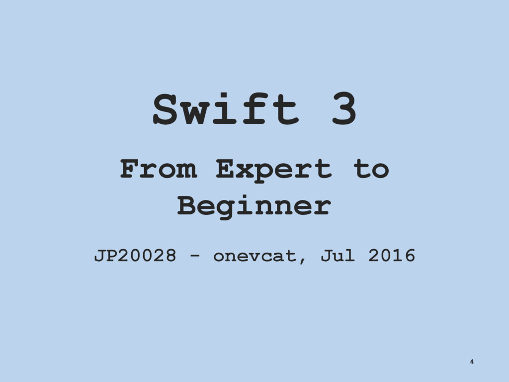Swift 3 From Expert to Beginner JP20028 - onevc...