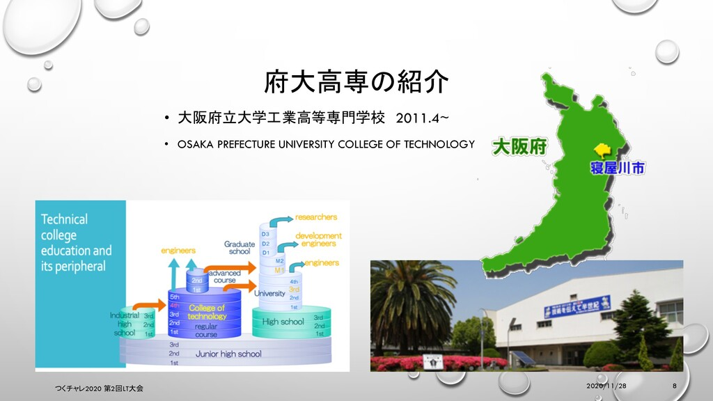 • 大阪府立大学工業高等専門学校 2011.4~ • OSAKA PREFECTURE UNI...