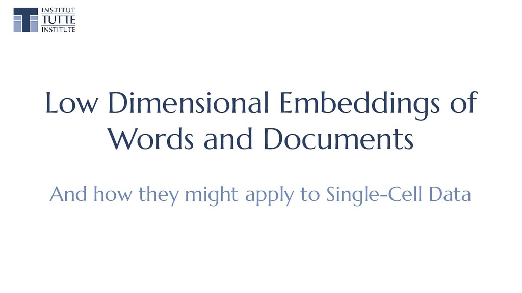Low Dimensional Embeddings of Words and Documen...