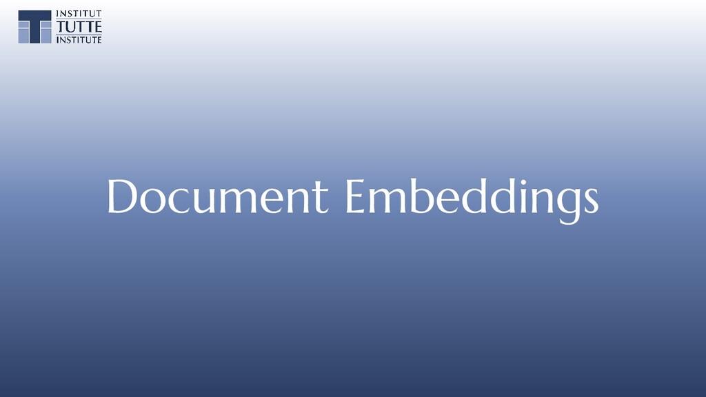 Document Embeddings
