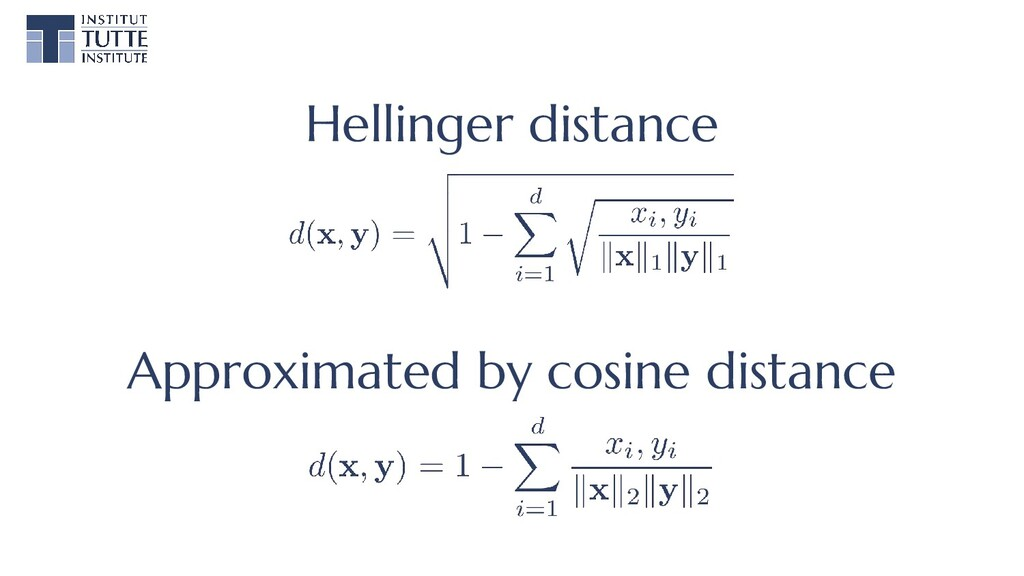 Hellinger distance Approximated by cosine dista...