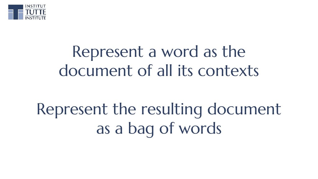 Represent a word as the document of all its con...