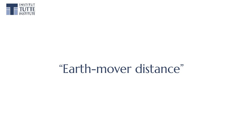 """""""Earth-mover distance"""""""