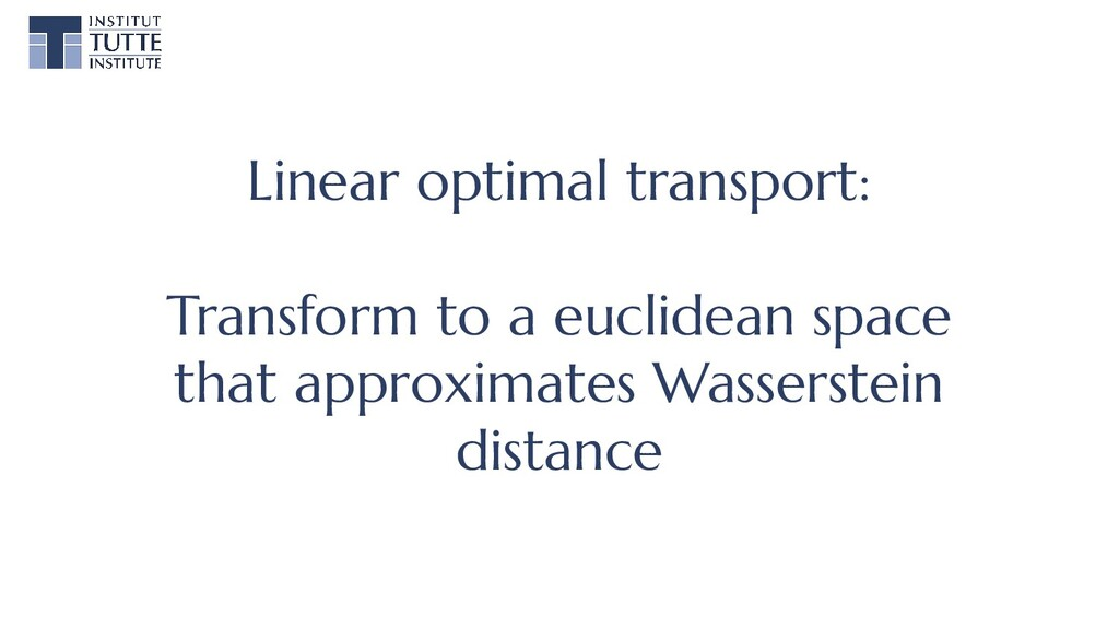 Linear optimal transport: Transform to a euclid...