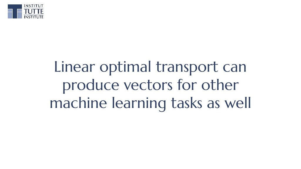 Linear optimal transport can produce vectors fo...
