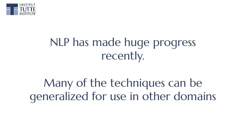 NLP has made huge progress recently. Many of th...