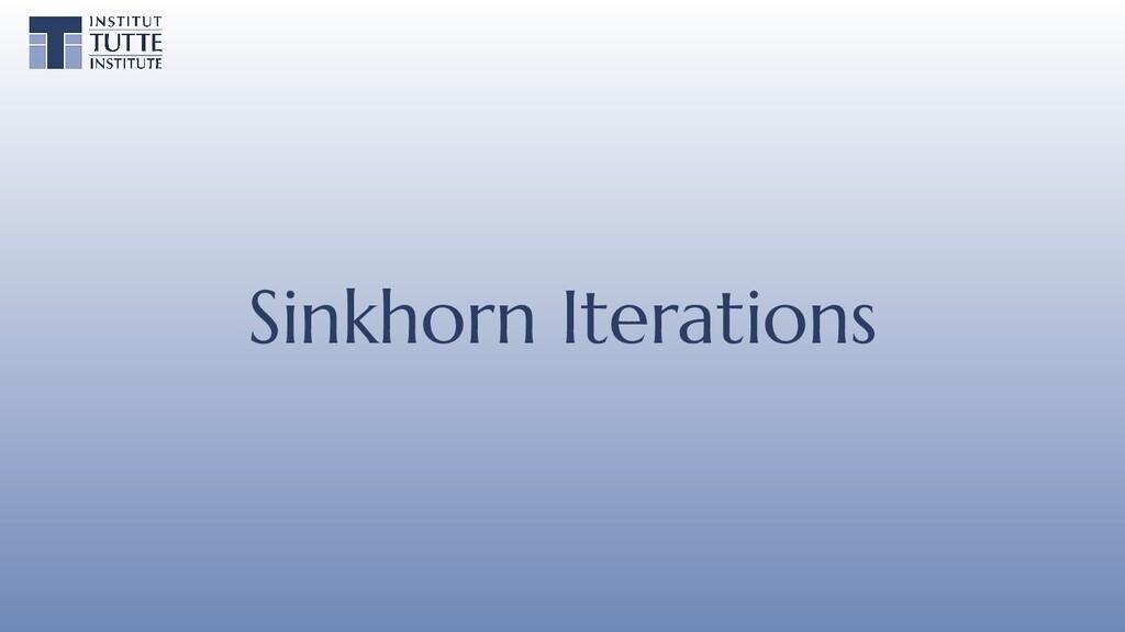 Sinkhorn Iterations