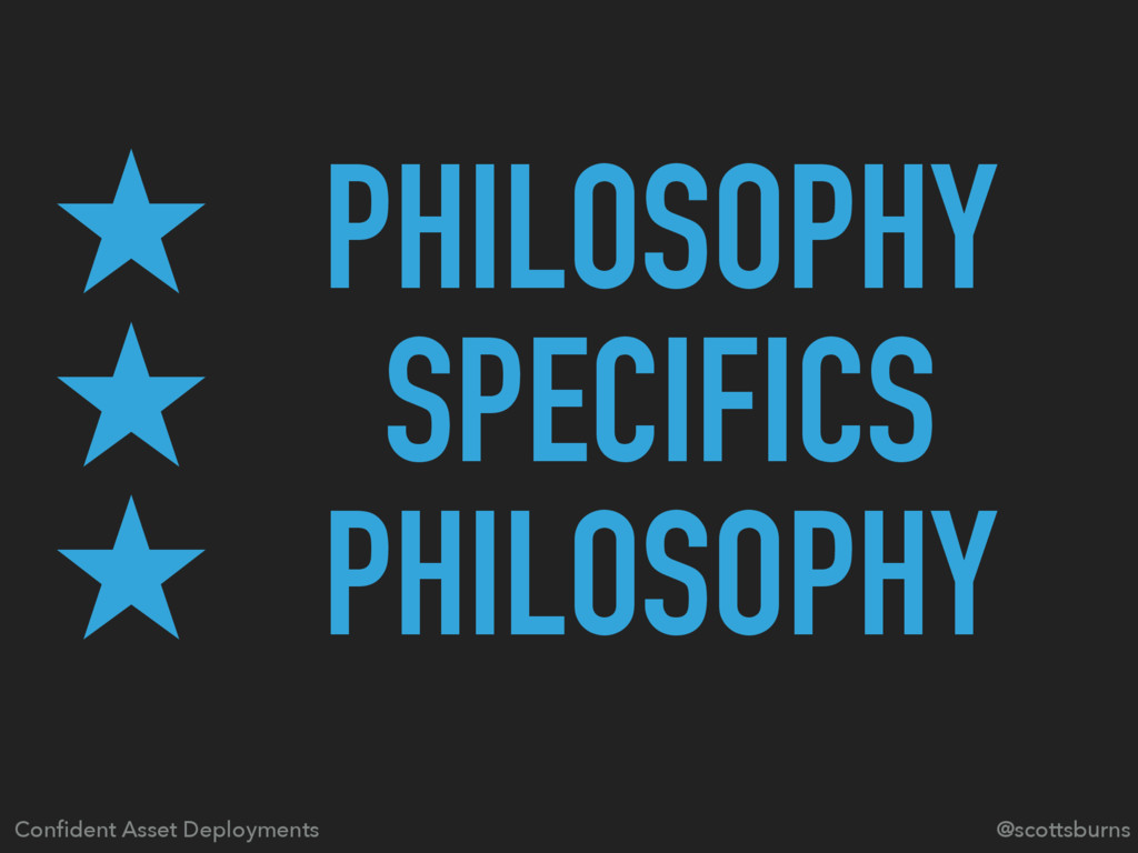 ̣ PHILOSOPHY ̣ SPECIFICS ̣ PHILOSOPHY @scottsbu...