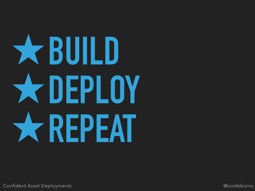 ̣BUILD ̣DEPLOY ̣REPEAT @scottsburns Confident As...