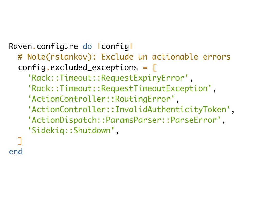 Raven.configure do |config| # Note(rstankov): E...