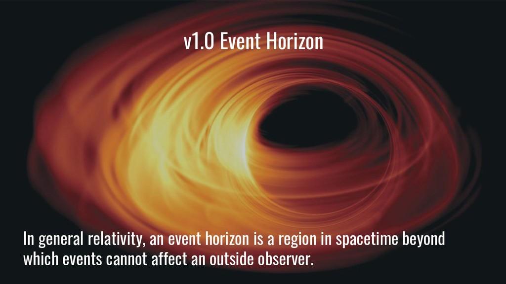 v1.0 Event Horizon In general relativity, an ev...