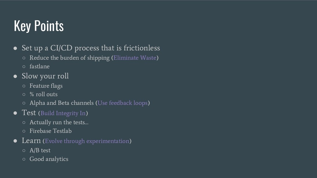 Key Points ● Set up a CI/CD process that is fri...