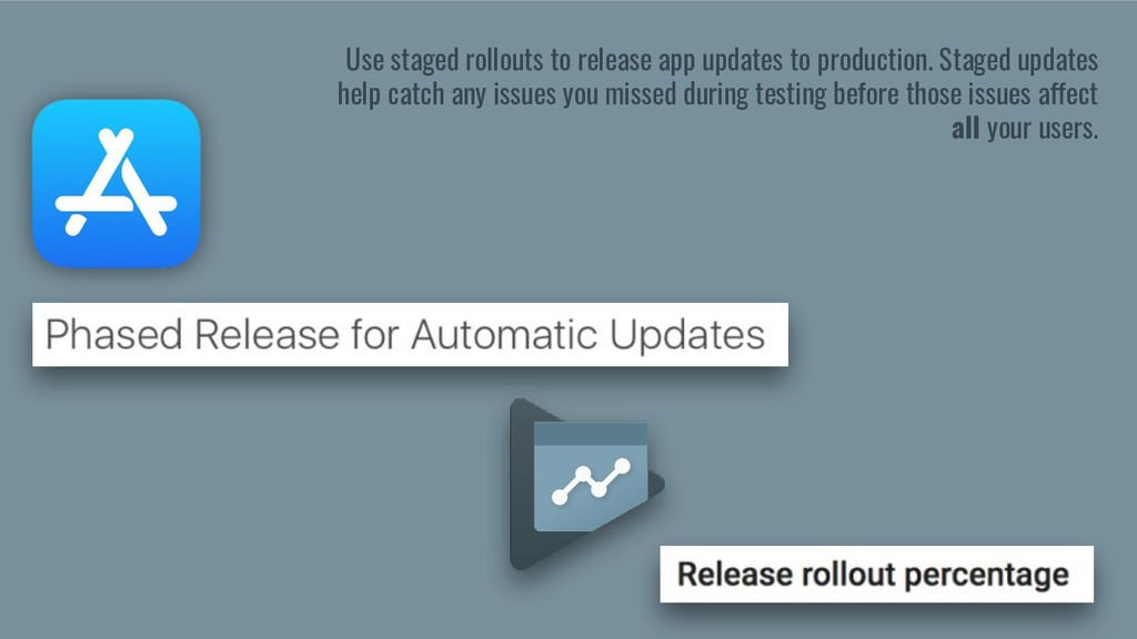 Use staged rollouts to release app updates to p...
