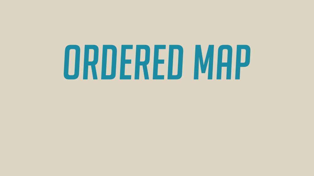 Ordered MAP
