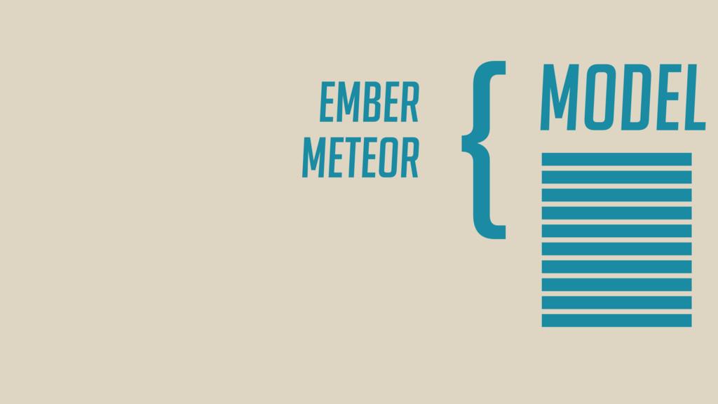 Model } Ember Meteor