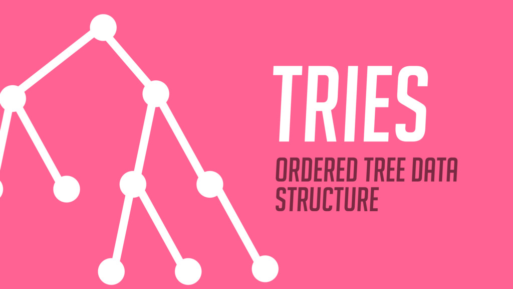 TRIEs Ordered tree data structure