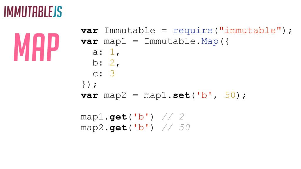 "IMMUTABLEJS MAP var Immutable = require(""immuta..."