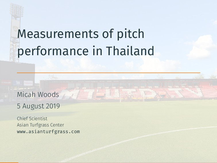 Measurements of pitch performance in Thailand M...