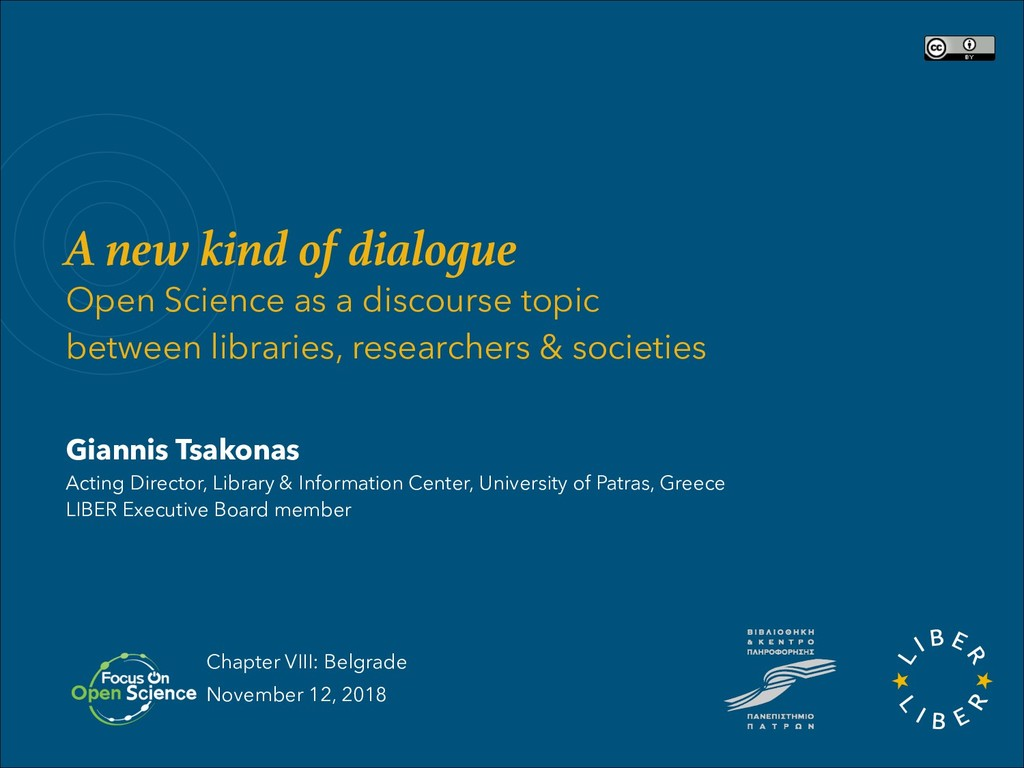 A new kind of dialogue Open Science as a discou...